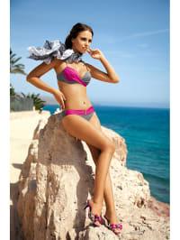 Meriell Bikini in Grau/ Pink