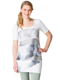 "Yest Shirt ""Kioko"" in Weiß/ Grau"
