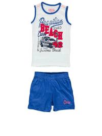 E-Bound 2tlg. Outfit in Weiß/ Blau