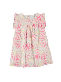 ESPRIT Kleid in Rosa/ Weiß/ Gelb