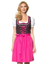 """LEKRA Mini-Dirndl """"Sandy"""" in Schwarz/ Pink"""