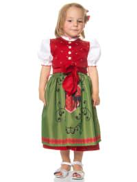 """Turi Landhaus Dirndl """"Loreen"""" mit Bluse in Rot/ Grün"""