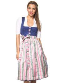"""Turi Landhaus Midi-Dirndl """"Beatrix"""" in Blau/ Rosa/ Bunt"""