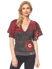 "Desigual Shirt ""Noa"" in Anthrazit/ Grau/ Rot"