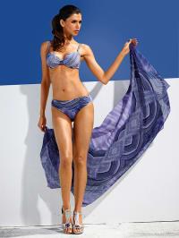 Class Int. FX Bikini in Blau/ Grau