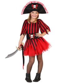 "Atosa Kostüm ""Piratin"" in Rot/ Schwarz"