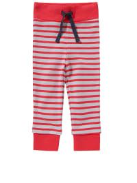Plui Plui Jogginghose in Rot/ Weiß
