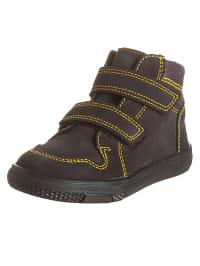 Richter Shoes Leder-Sneakers in Anthrazit/ Gelb