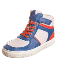 """Aster Leder-Sneakers """"Casey"""" in Blau/ Beige"""