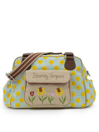 "Pink Lining Wickeltasche ""Blooming Gorgeous"" in Mint/ Gelb - (B)38x (H)25,5 x (T)19 cm"