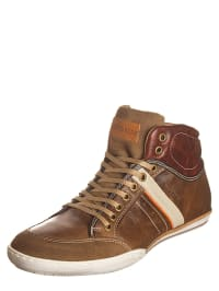 Otto Kern Leder-Sneakers in Hellbraun/ Braun