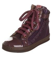 Romagnoli Leder-Sneakers in Lila