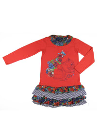 "What´s up Kids Kleid ""Cosy and Warm"" in Rot/ Blau/ Bunt"