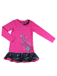 "What´s up Kids Kleid ""Fly Away"" in Pink/ Schwarz/ Hellblau"