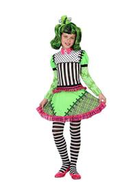 """Atosa Kostüm-Kleid """"Monster Mädchen"""" in Grün/ Pink"""