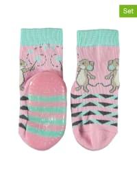 Sterntaler 2er-Set: Anti-Rutsch-Socken in Rosa/ Türkis