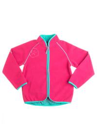 "Color Kids Fleecejacke ""Baxi"" in Pink/ Türkis"