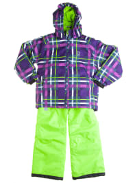 "Color Kids 2tlg. Skioutfit ""Tenby"" in Lila/ Grün"