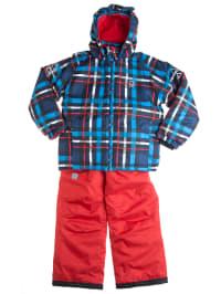 """Color Kids 2tlg. Skioutfit """"Tenby"""" in Blau/ Rot"""