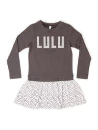 Lulu Castagnette Kleid in Taupe/ Weiß