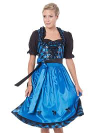 LEKRA Midi-Dirndl in blau/ schwarz