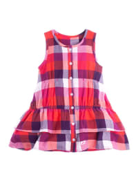 Sanetta Kleid in Rot/ Bunt
